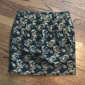 Loft gold and black rose skirt- size 2P